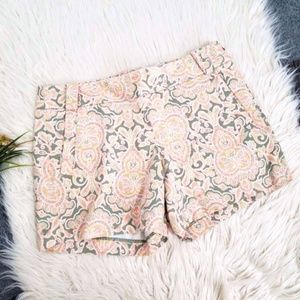 J.CREW Stretch factory patterned print shorts